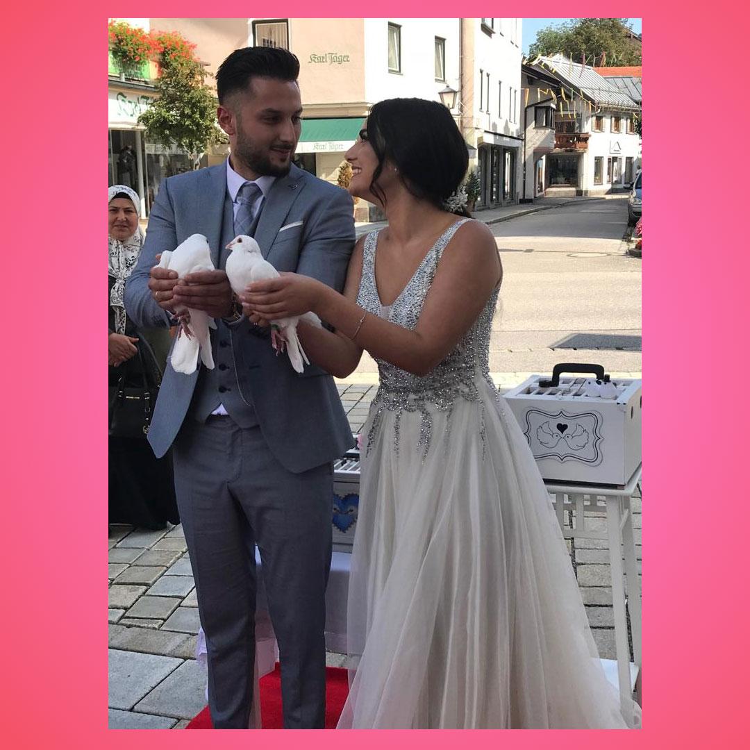 Hochzeitstauben in München Erding